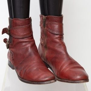 Frye Anna Gore Short Leather Ankle Size 9